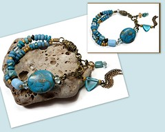 polymer clay Turquoise Cabochon Bracelet