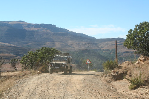 Driving up Sani Pass