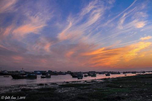 sunset sky copyright cloud water beauty weather canon wonderful river landscape eos is ship view natural outdoor great bank 7d bangladesh bote chittagong emon f3556 galib karnaphuli efs18135mm adheringtwilight