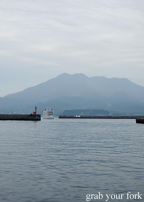 Sakurahima Cherry Island volcano in Kagoshima, Kyushu