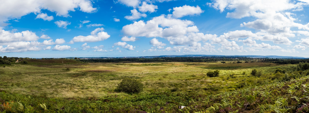 Panorma over Upton Heath