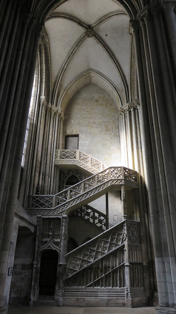 Rouen's Cathedral Interior is a Study in Grey