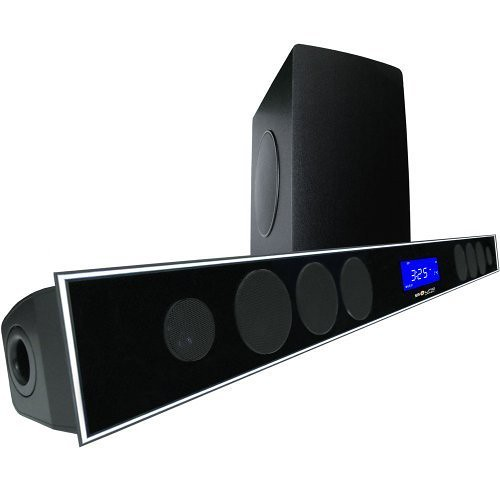 2.1 Soundbar w 8.0″ wireless subwoofer and MAXBASS chip by Sound Appeal