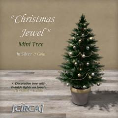 "[CIRCA] - ""Christmas Jewel"" - Mini Tree - Silver & Gold"
