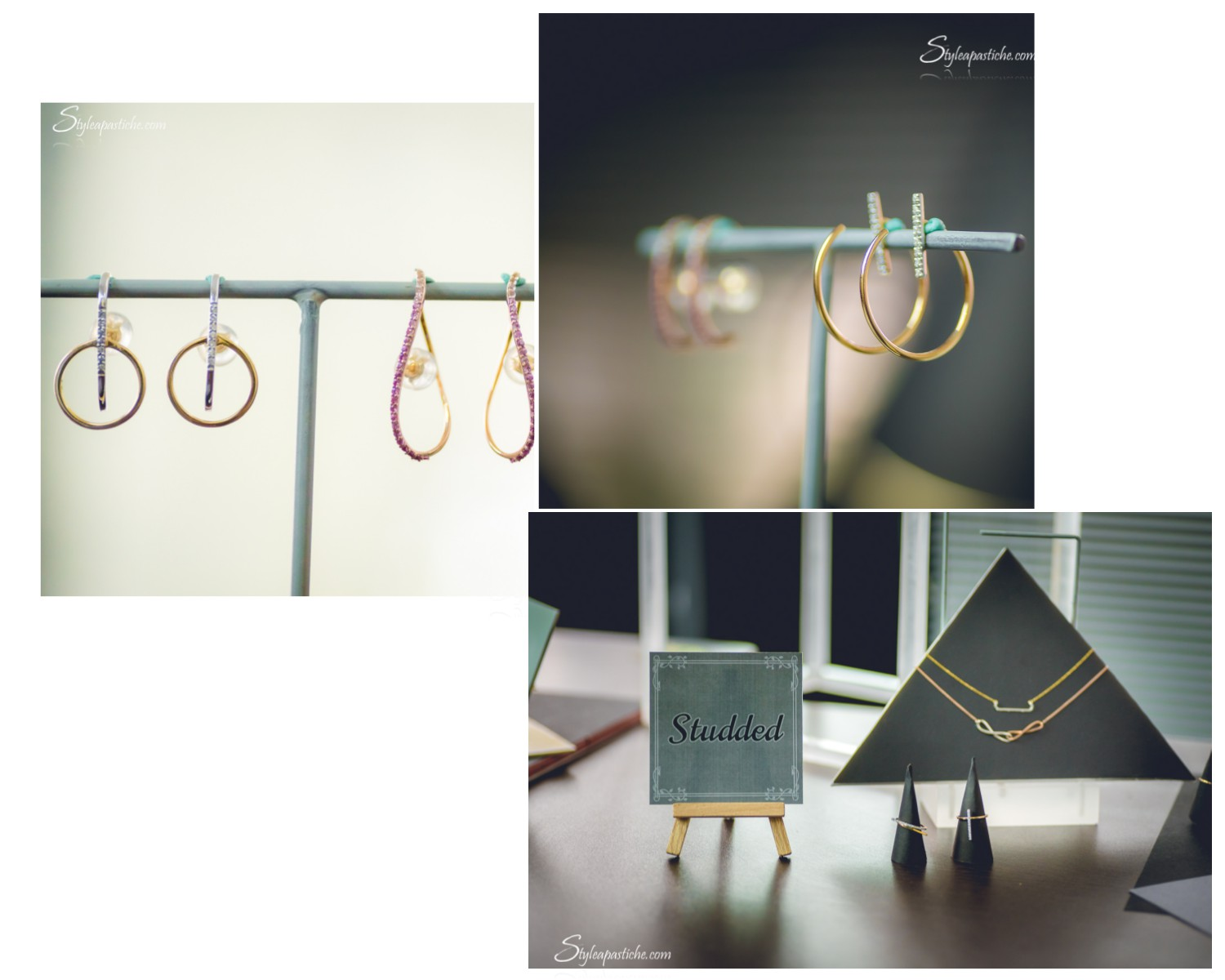 Indian fashion beauty lifestyle blog styleapastiche, Fine Line Jewellery collection by Tanishq, Simple minimal contemporary gold jewelery designs by Tanishq, Minimal Workwear jewellery collection