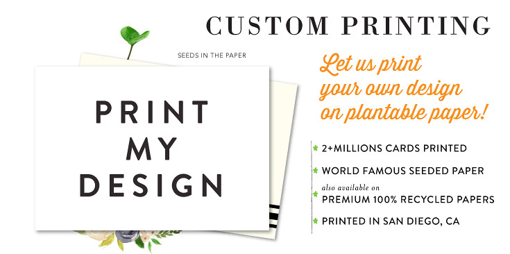 custom printing seeded papers wedding