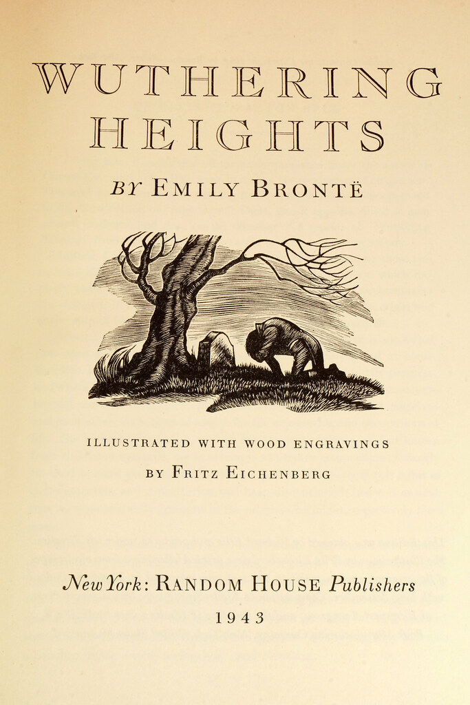 RD14487 Jane Eyre - Wuthering Heights by Charlotte & Emily Bronte 1943 Random House DSC08147