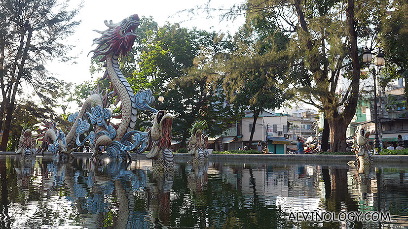 What is Chinatown with a water dragon?