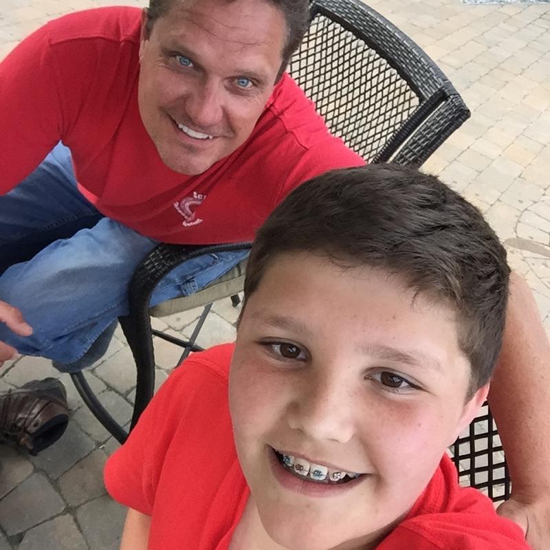 Steve Veregge and son in Augusta