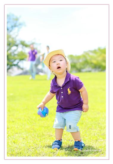 記念写真 2才のお誕生日 バルーン 落合公園 愛知県春日井市 自宅 出張撮影 ロケーション撮影 家族写真 子供写真