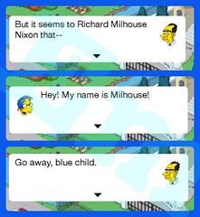 Stupid Milhouse, presidential edition