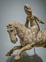 Closeup of Polo Player China Tang Period 7th-8th century CE Earthenware