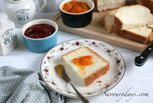 Homemade bread & apricot jam (all by Zojirushii breadmaker)