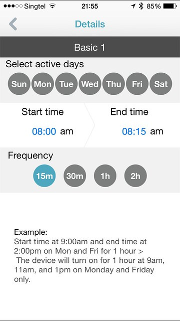 mydlink Home iOS App - Basic Schedule