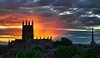 Worcester Cathedral sunset..