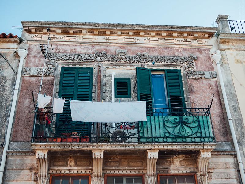 A balcony in Noto