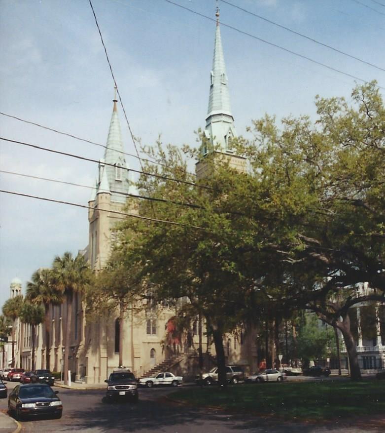 Wesley Monumental United Methodist Church---Savannah, Ga.