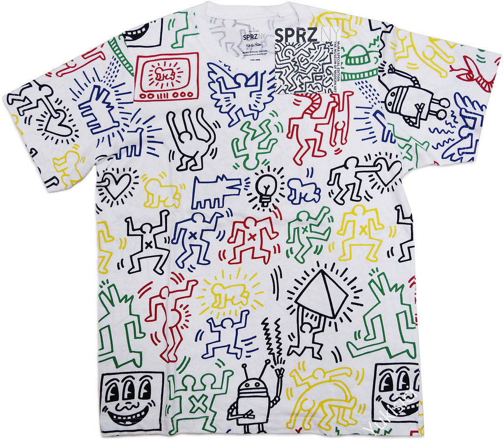 keith haring uniqlo moma sprz ny multi colored short. Black Bedroom Furniture Sets. Home Design Ideas