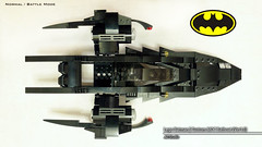 Lego Batman | Custom MOC Batboat (Battle Mode)