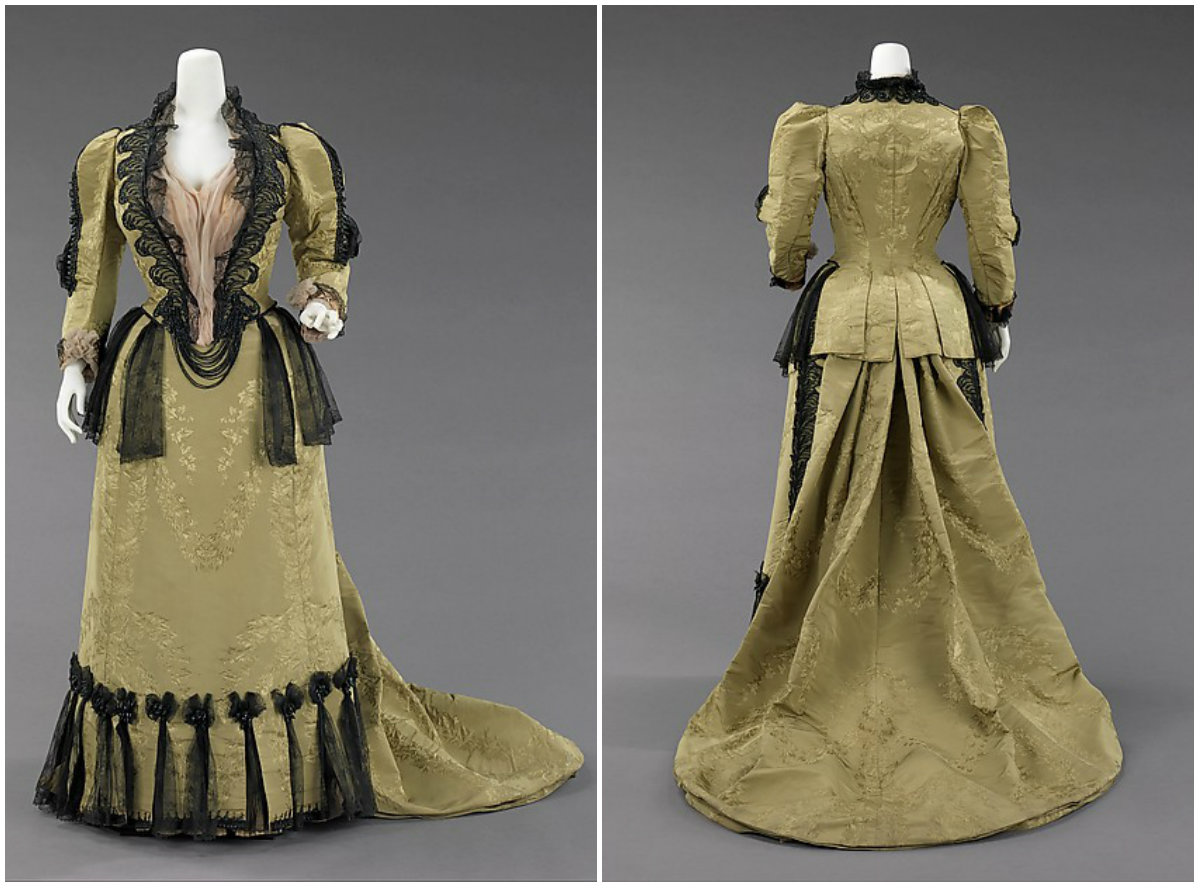 1893. Ensemble. Silk, jet, metal. metmuseum