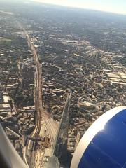 Flying into sunny London City
