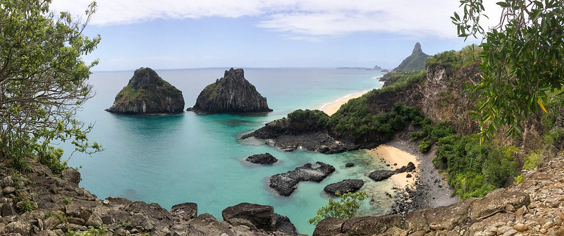 View point on Fernando de Noronha island, archipelago - Panoramabild