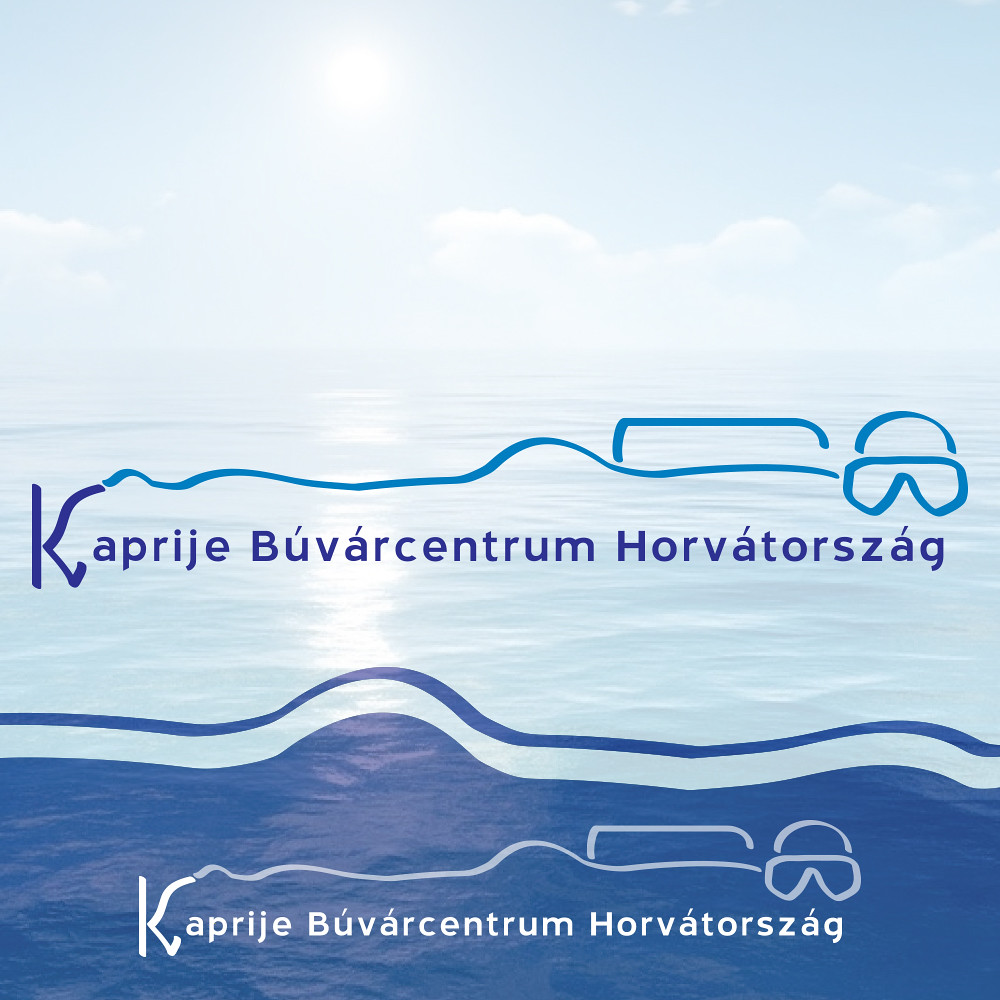 Kaprije Búvárcentrum Horvátország logóterv