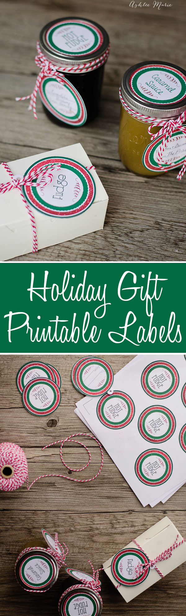free printables for the perfect edible neighbors gifts, hot fudge, caramel sauce, popcorn balls and fudge