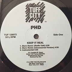 PHD:KEEP IT REAL(LABEL SIDE-A)