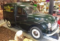 austin fx4(0.0), mid-size car(0.0), compact car(0.0), antique car(0.0), sedan(0.0), automobile(1.0), van(1.0), vehicle(1.0), morris minor(1.0), classic car(1.0), vintage car(1.0), land vehicle(1.0), motor vehicle(1.0),