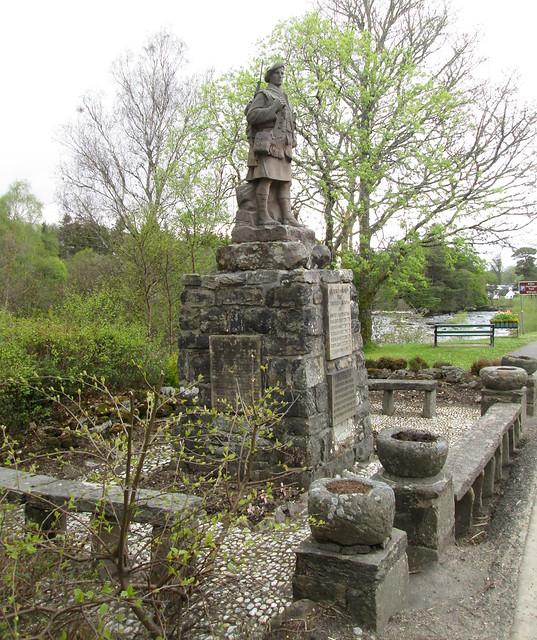 Killin,War Memorial looking towards Killin