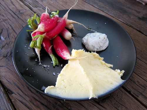 Radishes, Butter and Fresh Cheese