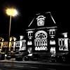 Une gare, la nuit