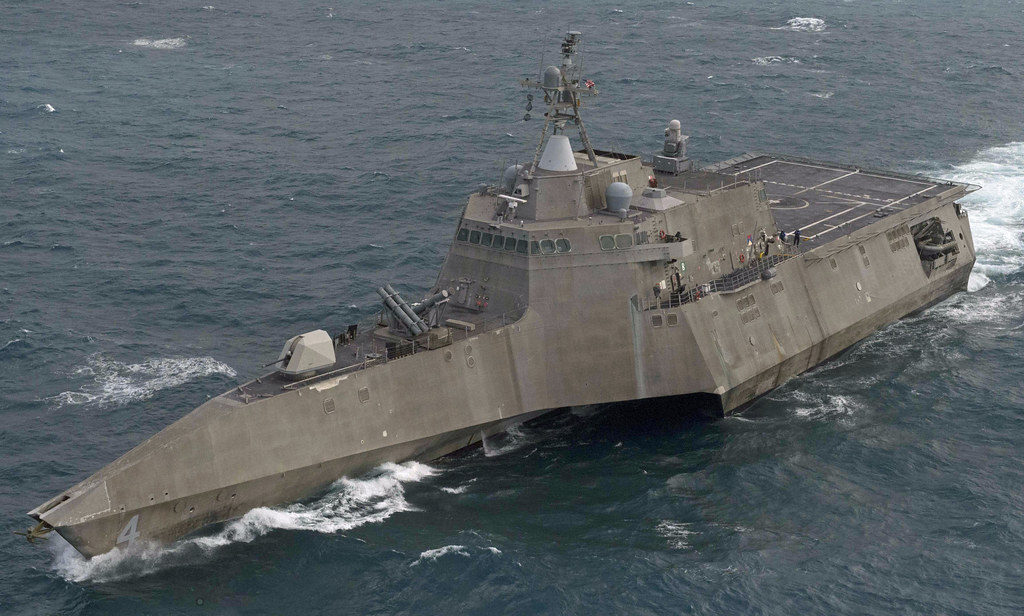 SOUTH CHINA SEA - Sailors aboard littoral combat ship USS Coronado (LCS 4) are training and conducting operations at sea following the ship's departure from Singapore, Feb. 10.