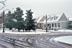 North Richland Hills Neighborhood in Snowstorm, March 2008