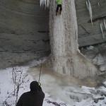 Râpa Dracului Dej - Cascada de gheață