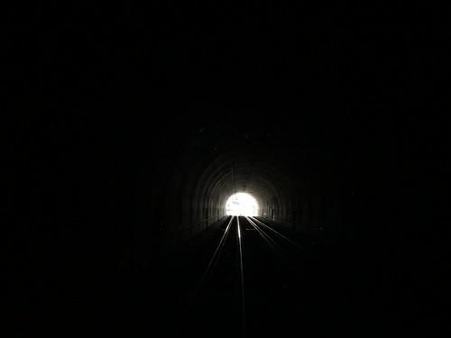 Ausfahrt Tunnel Vauderens