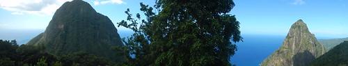 panorama pano saintlucia stlucia westindies piton