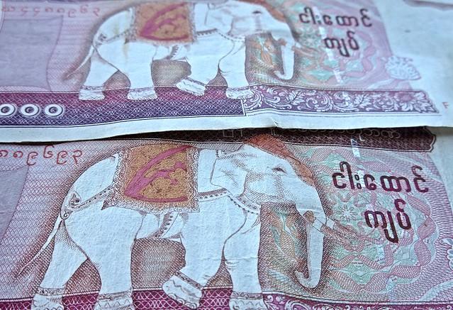Myanmar Kyats - Pink Elephants