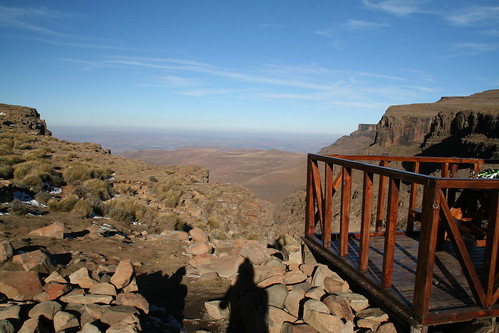 VIew from the highest pub in Africa, Lesotho