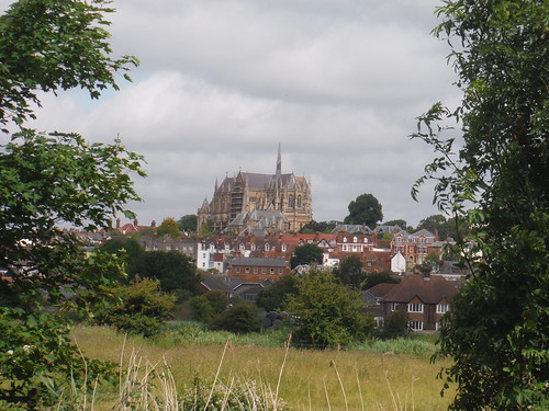 Arundel Church from the A-Road