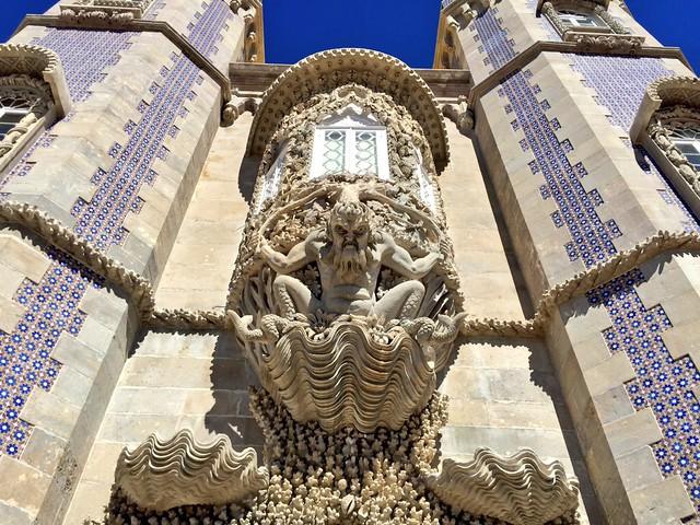 Balcón del tritón en el Palacio da Pena (Sintra, Portugal)