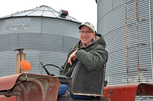 David Petersen at his farm