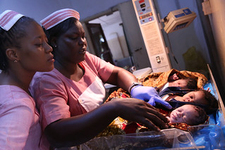 Registered nurses look after newborns | by World Bank Photo Collection