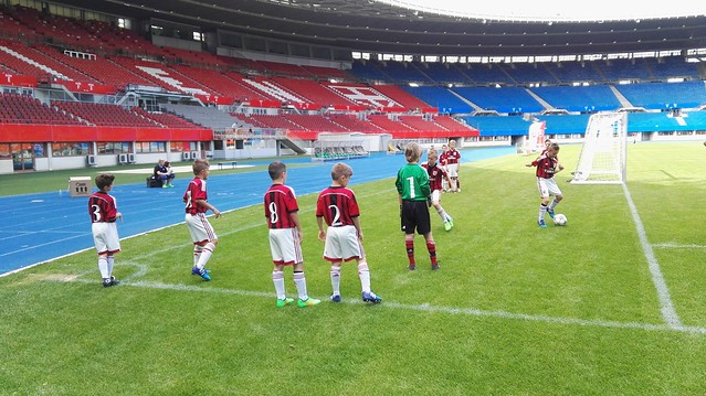 Der AC Milan beim 8. Internationalen SK Rapid U9 Turnier im Ernst-Happel-Stadion