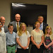 Rep. Tim LeGeyt, back left, and Sen. Kevin Witkos, back right, hosted the 5th annual Memorial Day Essay Contest.  Pictured with the legislators are Collinsville Savings Society President, Gary Roman, back center, along with this year's winners from Canton Intermediate in Canton, and Thompson Brook in Avon.