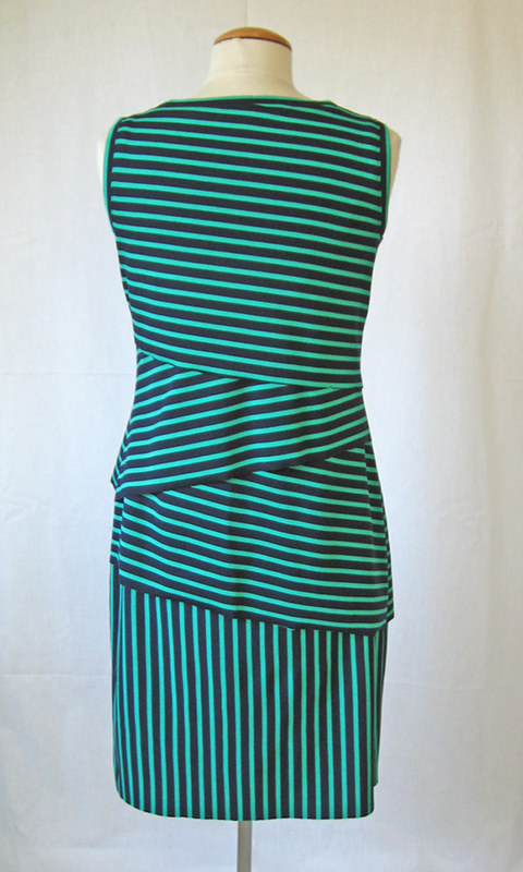 shingle dress on form back