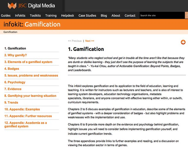 Archive of the Jisc Digital Media gamification infokit