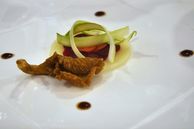 Pickled Salad in buttermilk with crispy mushroom