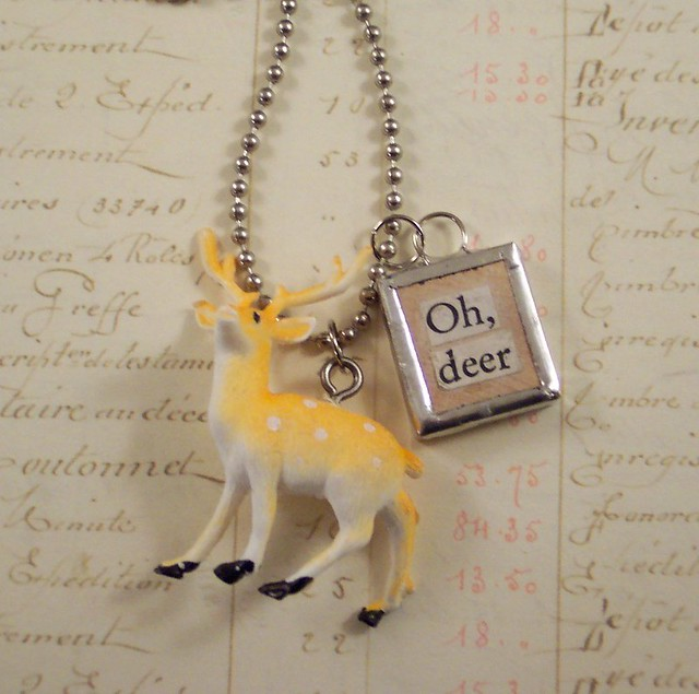 Oh Deer Charm Necklace